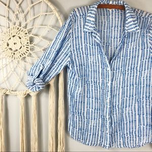 Anthropologie Cloth & Stone Patterned Button Down